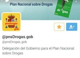 Se crea una cuenta de twitter para informar del Plan Nacional sobre Drogas