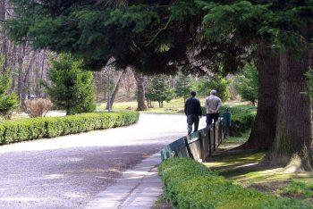 hombre con alzheimer paseando
