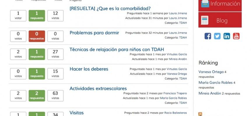 Una aplicación web para ayudar a los padres de niños con TDAH
